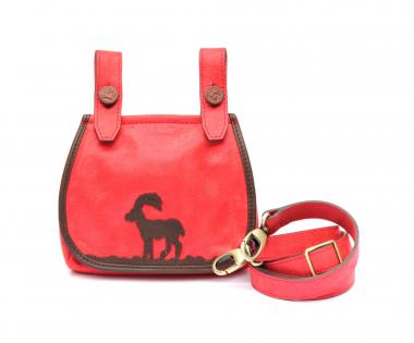 """Manor House Mini"" Leder Glitzer Rot"