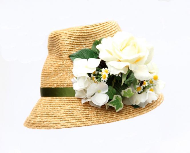 """Trachtenhut """"White Flowers"""""""
