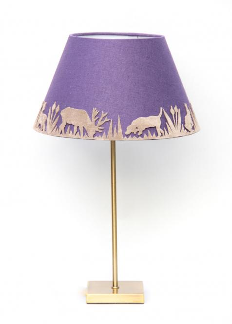 """Forest Light"" Lampe Aubergine"