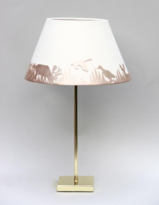 """Forest Light"" Lampe Metallic/Weiss"